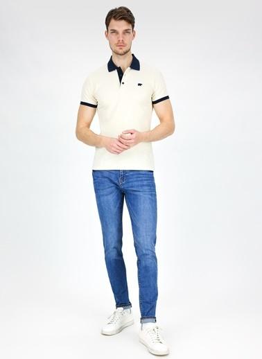 Bad Bear Bad Bear Swıtch Pıque Polo Yaka Kısa Kol Kırık  Erkek T-Shirt Beyaz
